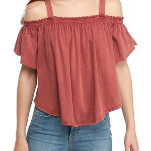 Free People Tops - FREE PEOPLE NEW Cold Shoulder Distressed T…
